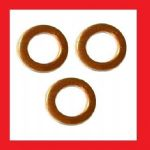 Sump Plug Copper Washer Pack (x3) - Honda Dream 50